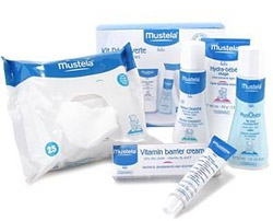 Mustela skin care products